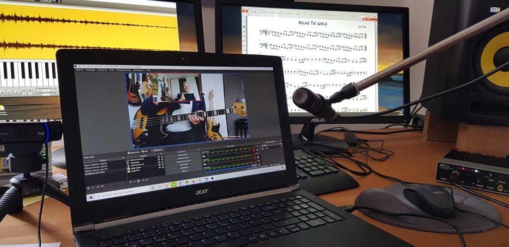 Online Bassunterricht
